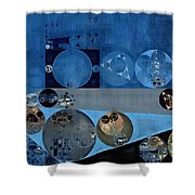 Abstract Painting - Bermuda Grey Shower Curtain
