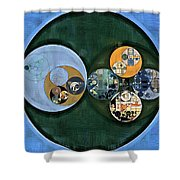 Abstract Painting - Cardin Green Shower Curtain