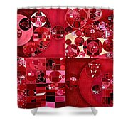 Abstract Painting - Dark Scarlet Shower Curtain