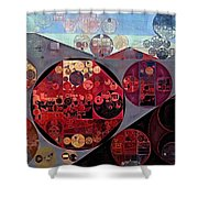Abstract Painting - Seller Pomegranate Shower Curtain