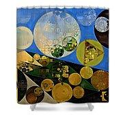 Abstract Painting - Lochmara Shower Curtain