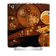 Abstract Painting - Pale Gold Shower Curtain