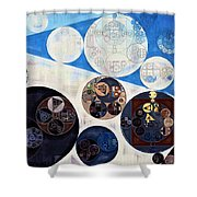 Abstract Painting - San Marino Shower Curtain