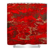 Lava Lust Abstract  Shower Curtain