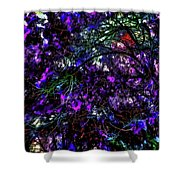 Abstract Trees 291 Version 3 Shower Curtain