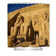 Abu Simbel Shower Curtain