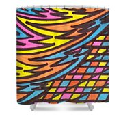 Aceo Abstract Design Shower Curtain