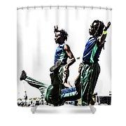 Acroback-street Shower Curtain