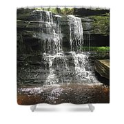 Aden Hill Waterfall Shower Curtain by Kevin Croitz