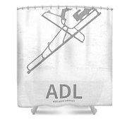 Adl Adelaide Airport In Adelaide Australia Runway Silhouette Shower Curtain
