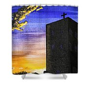 Adobe Church Shower Curtain