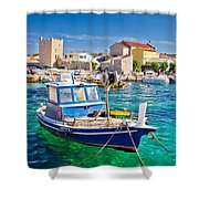 Adriatic Town Of Razanac Colorful Waterfront Shower Curtain