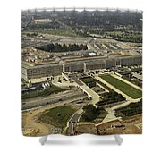 Aerial Photograph Of The Pentagon Shower Curtain