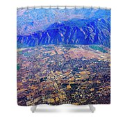 Aerial Usa. Los Angeles, California Shower Curtain