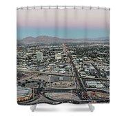 Aerial View Of Las Vegas City Shower Curtain