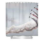 Aerobatic Group Formation  At Blue Sky Shower Curtain