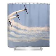 Aerobatic Group Formation  Shower Curtain
