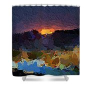 African Colours Shower Curtain