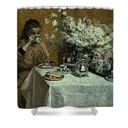 Afternoon Tea Shower Curtain by Isidor Verheyden