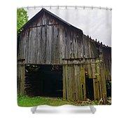 Aged Wood Barn Series Shower Curtain
