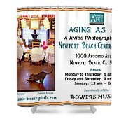 Aging As Art Exhibit Shower Curtain