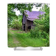 Aging Barn In Woods Series Shower Curtain