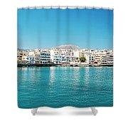 Agios Nikolaos Panorama Shower Curtain