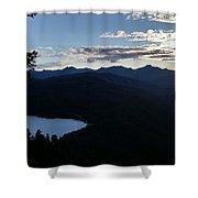 Agnes Lake Montana Shower Curtain