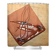 Agony - Tile Shower Curtain