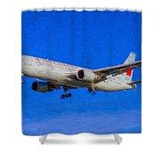 Air Canada Boeing 767 Art Shower Curtain