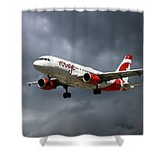 Air Canada Rouge Airbus A319-114 Shower Curtain