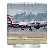 Air Canada Rouge Boeing 767-333 Shower Curtain
