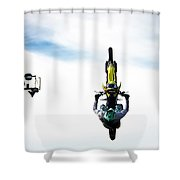 Airborne Motorcycle Performance Shower Curtain