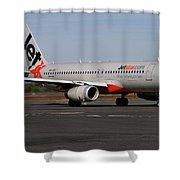 Airbus A320-232 Shower Curtain