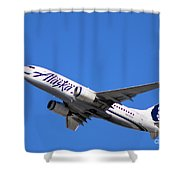 Alaska Airlines 737-800 Shower Curtain