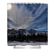 Alaska Mountains Shower Curtain