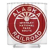 Alaska Railroad Aged Shower Curtain