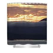 Alaskan Coast Sunset, View Towards Kosciusko Or Prince Of Wales  Shower Curtain