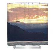 Alaskan Coast, View Towards Kosciusko Or Prince Of Wales Islands Shower Curtain