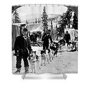 Alaskan Dog Sled, C1900 Shower Curtain