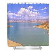 Albiquiu Reservoir, Route 84, New Mexico Shower Curtain