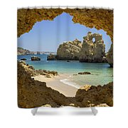 Albufeira Cave Shower Curtain