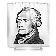 Alexander Hamilton - Founding Father Graphic  Shower Curtain