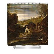Alexander The Great Rescued From The River Cydnus Shower Curtain