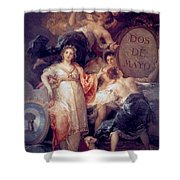 Allegory Of The City Of Madrid Shower Curtain