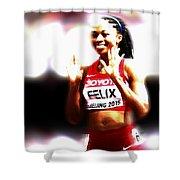 Allyson Felix Shower Curtain