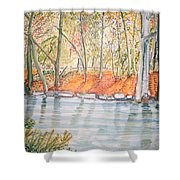 Along The Wissahickon Shower Curtain