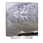 Alpine Winter Reflections Shower Curtain