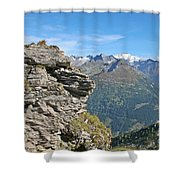 Alps Mountain Landscape  Shower Curtain