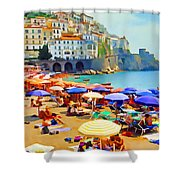 Amalfi Beach Shower Curtain